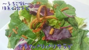 頂魚穴子で🎣中骨のパリパリサラダ