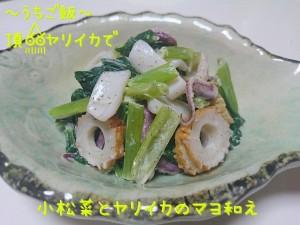 頂ヤリイカで🎣小松菜とヤリイカのマヨ和え