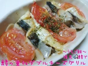 頂魚鯵で🎣鯵の重ねダブルチーズグリル