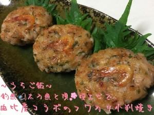 釣魚太刀魚と頂桜エビで🎣由比産コラボのフワカリ小判焼き