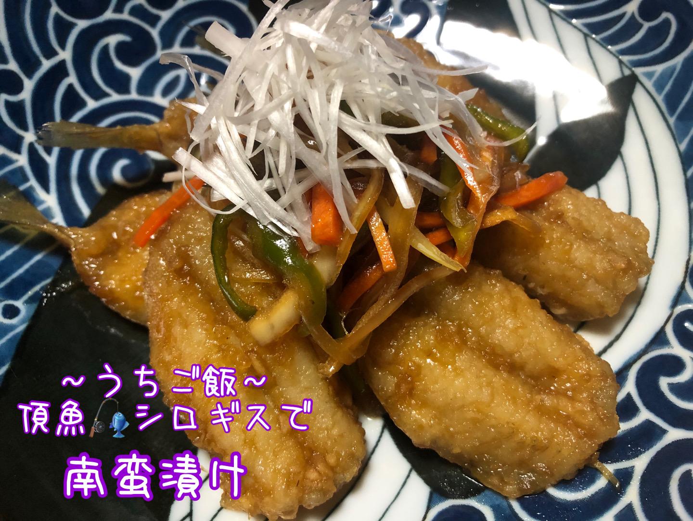 頂魚シロギスで🎣南蛮漬け